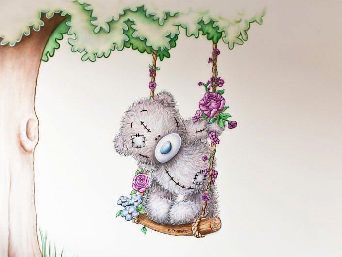 Beertje met boom