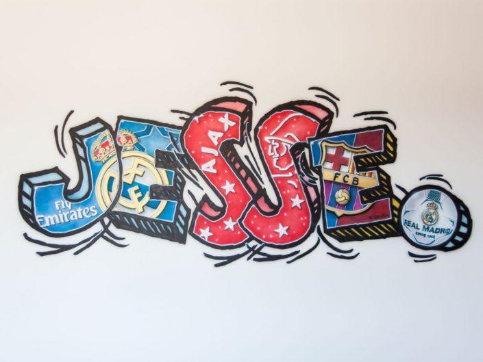 voetbal graffiti naam